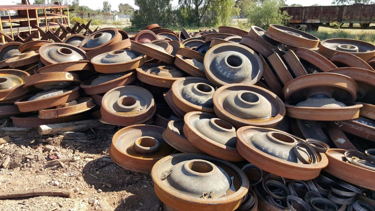 scrap train wheels