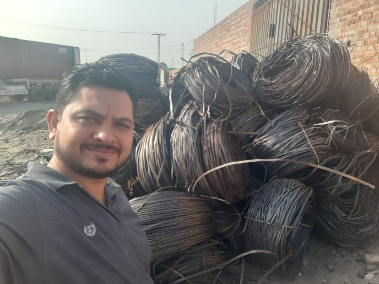 Hr trimming scrap metal for export